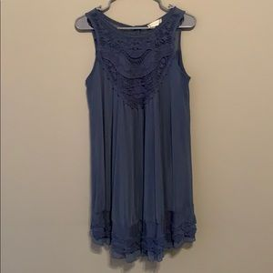 Altar'd State blue dress with lace details